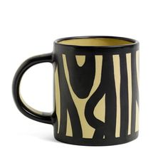Wood Mug by Hay in Yellow and Black