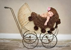 Pom Pom Baby Round Blanket Afghan Brown Photo by OopsIKnitItAgain, $65.00
