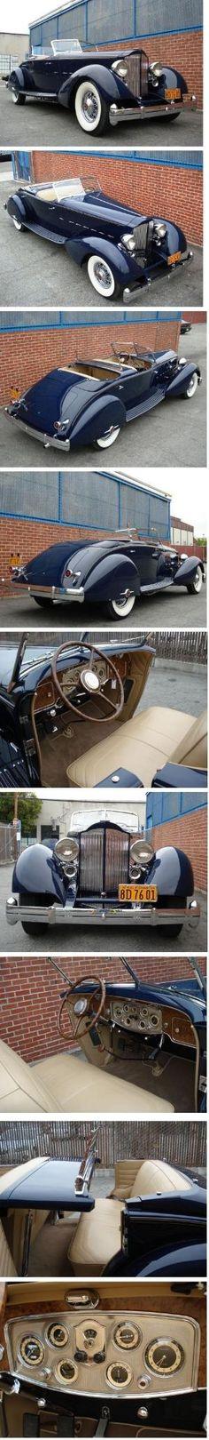 1934 Packard Twelve Sport Phaeton by DeeDeeBean