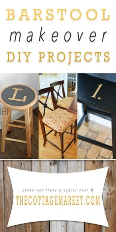 Barstool Makeover DIY Projects - The Cottage Market