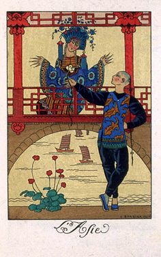 George Barbier - L'Asie from the Calendar Series