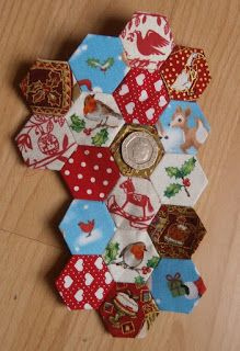 Christmas hexagon patchwork