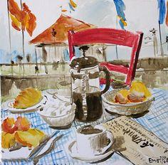 """""""Frühstück am See"""" von Emo"""