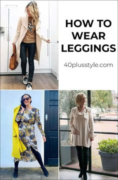 How to wear leggings over 40 – a complete guide with the best leggings and tops and shoes to wear with them How To Wear Leggings, Denim Leggings, Faux Leather Leggings, Best Leggings, Black Leggings, Leggings Are Not Pants, Jeans, My Wardrobe, Capsule Wardrobe