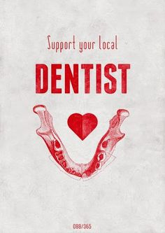 Support your local dentist by visiting them twice a year!  #Dentist #Dentistry #DentalHygienist