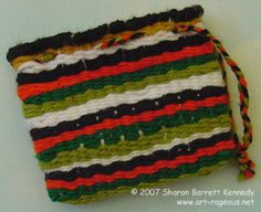 Weaving - how to have students weave a bag and add a handle.