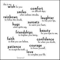 The wishes for my children. I love you Evan Emily....just like the stars!