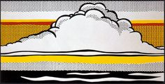 """Roy Lichtenstein  Cloud and Sea, 1964  A example for the art call: """"Water"""" The Essence of Life Deadline: 10/12/14 - $7,575 in cash and prizes - www.art-competition.net"""