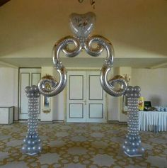 """Betallic 40"""" Megaloon foils #6 or #9 make gorgeous scrolls for unique decor."""