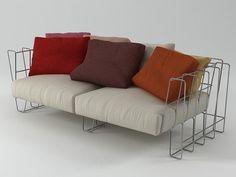 Living Divani Hoop sofa 200 3d model | Arik Levy