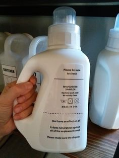 セブンイレブンの洗剤ボトルがオール白で使える!ダイソーのラミネートフィルムで防水ラベルに簡単リメイク