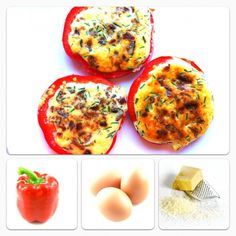Red Pepper Egg in a Hole, A delicious Carb and Gluten free Breakfast!