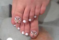 #pedicure #nailart #nails #white