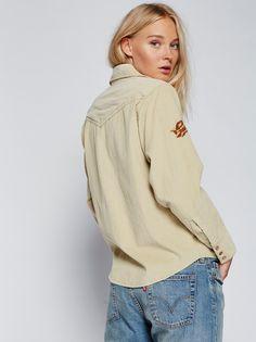 FP Harley Embroidered Long-Sleeve Corduroy Buttondown Shirt (Tea)