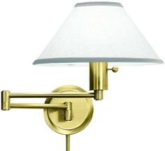 Decorative Swing Arm Wall Lamp in Satin Brass