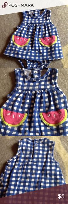 Watermelon dress Onsie dress in excellent condition. Only worn twice. From a clean, smoke-free home. Child of Mine Dresses