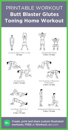 and everything about sport life. Butt Blaster Glutes Toning Home Workout Glutes Workout Men, Leg Workouts For Men, Leg Workout At Home, Squat Workout, Gym Workout Tips, At Home Workouts, Weight Workouts, Core Workouts, Men Exercise
