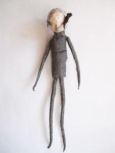 Bird in Eyes Doll functional fabric doll Volante2