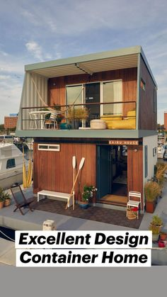 Floating Architecture, Container Architecture, Sustainable Architecture, Building A Small House, Building A Container Home, Shipping Container Design, Container House Design, Floating House, Architect House