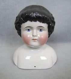 Doll Head, Doll Face, Antique Dolls, Vintage Dolls, China Dolls, Antique China, Old Toys, Toys For Girls, Vintage Children