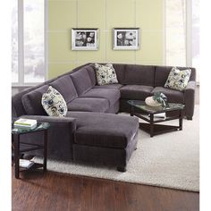 L Shaped Sofa Milan Contemporary Four Piece Sectional With Raf Chaise By Broyhill Furniture