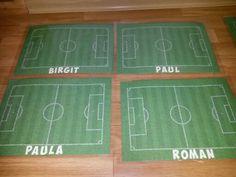 Platzkarten Untersetzer laminiert für Fussballparty