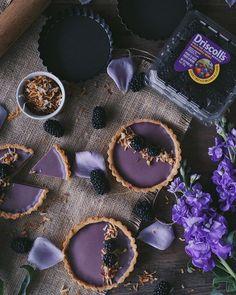 Blackberries Coconut Panna Cotta Tart by @FoodByCherry
