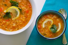 Red Lentil Soup with Lemon. Recipe from Melissa Clark's In the Kitchen with a Good Appetite.  Really one of the best soup recipes EVER!