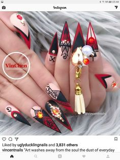 Best nail shapes for fat hands Crazy Nail Designs, Elegant Nail Designs, Elegant Nails, Nail Art Designs, Fabulous Nails, Gorgeous Nails, Cute Nails, Pretty Nails, 3d Nails