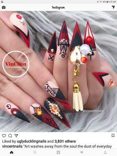 Best nail shapes for fat hands Crazy Nail Designs, Elegant Nail Designs, Elegant Nails, Nail Art Designs, Fabulous Nails, Gorgeous Nails, Pretty Nails, Hot Nails, Hair And Nails