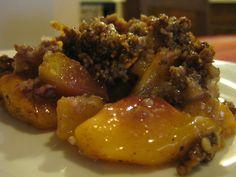 Dessert for tomorrow : Paleo Peach Crumble
