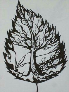 Tree inside a leaf