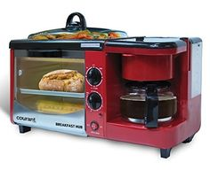 Courant CBH-4601R 3-in-1 Multifunction Breakfast Hub, Red