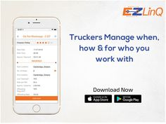 Truckers manage your runs your way. Schedule your own working hours with the EZLinQ App. Ipod Touch, Schedule, App, Learning, Timeline, Studying, Apps, Teaching, Onderwijs