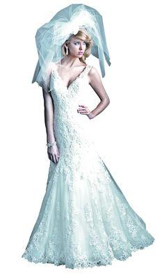 Allure Couture gown, $1,618 at Pure Bliss, 85 Merrimac Street, Newburyport, 978-462-0700, pureblissbridals.com