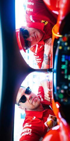 2018/4/27: Twitter: @sebvettelnews: 👀😎 #AzerbaijanGP 🇦🇿 #Vettel #Raikkonen