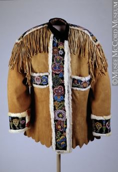 Dene or Métis beaded coat at the McCord Museum; Musée McCord Museum