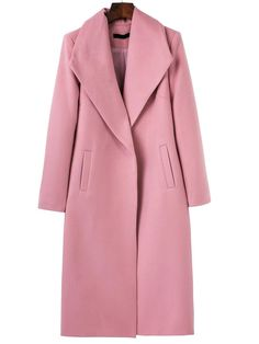 Shop Pink Shawl Collar Longline Coat online. SheIn offers Pink Shawl Collar Longline Coat & more to fit your fashionable needs.
