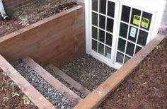 Egress window/door turns basement into a walk-out.