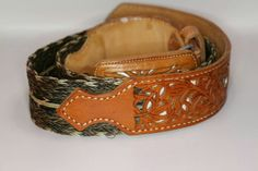 Mexican hand made belt leather and horse hair . For sale