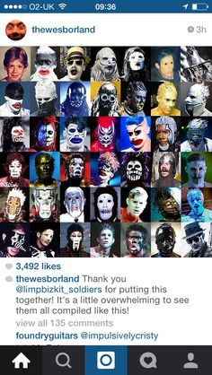 The many faces of Wes Borland
