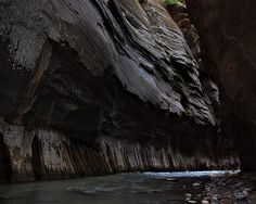 Hiking through the Zion Narrows, Zion National Park by jgbernard, via Flickr