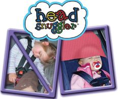 Backed by a chiropractor, pediatrician and car seat safety technician, the Head Snuggler *crash tested* is a safe and effective way to support your child's head and neck while sleeping in the car. www.melrosekids.com