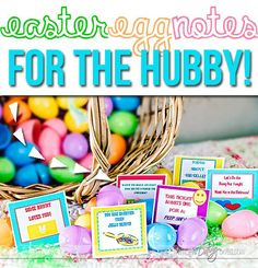 Easter Egg Bedroom Notes! He is going to LOVE Easter this year!! ;)