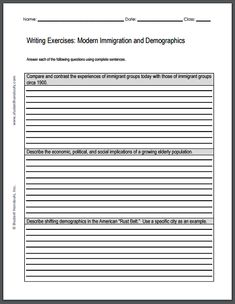 Higher modern studies immigration essay