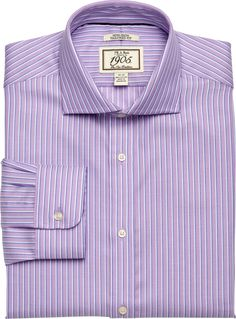 f5479c237 1905 Collection Tailored Fit Cutaway Collar Stripe Dress Shirt - Big &  Tall CLEARANCE Non