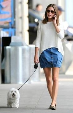 フラットシューズ履きこなしのお手本。『オリビア・パレルモ』の歩けるファッション - NAVER まとめ