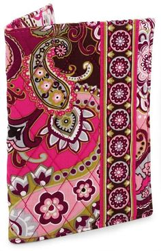 Vera Bradley Very Berry Paisley Fabric Paperback Bookcover Vera Bradley Patterns, Fabric Book Covers, Paisley Fabric, Ribbon Bookmarks, Glasses Case, Grosgrain Ribbon, Home Gifts, Pink Purple, Women Accessories