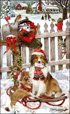 Christmas Sheltie