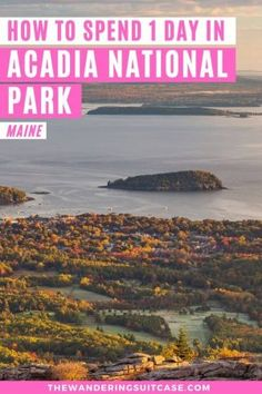 1 day itinerary for Acadia National Park covering can't miss experiences while you are visiting this US national park in Maine USA. Usa Travel Guide, Travel Usa, Travel Guides, Canada Travel, Travel Tips, Travel Articles, National Parks Usa, Acadia National Park, Bangor